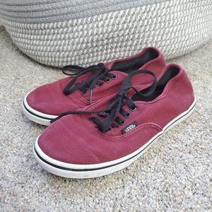 Vans Burgundy Lace Up Shoes Size 5.5